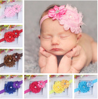 Passport band drill - 13 style Christmas ornaments drill multi flower worn edges take baby hair band elastic hair band Hair Accessories