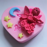 Cheap Angel violin star and moon shape cake decorating supplies candy silicone mold cake decorating tools cooking tools free shipping