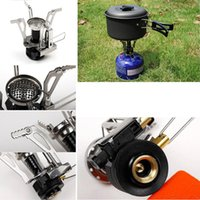 Wholesale New Mini Outdoor Gas Burner Butane Propane Picnic Camping Equipment Backpacking Gas Camping Stove Cooking CHristmas essential