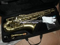 Wholesale High quality bronze Alto Saxophone Musical Instruments body carving With case
