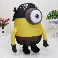 10inch 25cm Despicable Me Film Peluche Pirate Minion Yeux 3D poupée
