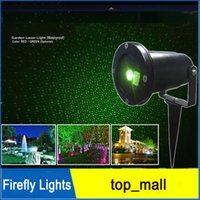 Wholesale Firefly Lights Waterproof Outdoor Laser Lights Landscape Red Green Laser Dot Projector for Lawn and Garden Home Xmas Decor Lights