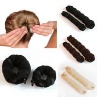Cheap Newest Arrivals Sponge Hair Styling Donut Bun Maker Former Twister Ring Shaper Styler Tool CX116 2 PCS  Set in Bags