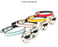 Wholesale Pet collars dog bell necklace oversized Meng pet bell pet collars cat pet collar DHL
