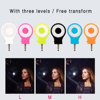 Wholesale RK flash light Portable Night Using Selfie Enhancing Camera Flash Light For Smartphone Colorful External Rechargeable LED fill light