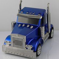 Wholesale 3D Truck Speaker Car Shaped design Mini portable Music MP3 USB speakers with FM Radio TF Card Supported