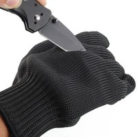 Wholesale 1 x Black Stainless Steel Wire Safety Works Anti Slash Cut Resistance Gloves