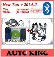 Cheap [2014 R2 Software + DHL FREE ] Newest Grey tcs CDP Pro for cars & trucks 3 in1 with Bluetooth function  led with 8pcs car cables