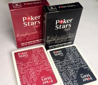 Wholesale 2015 Poker Stars Playing Cards Red and Black Color Pokers for Choosen Playing Cards Poker Stars