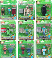Wholesale 8 cm Minecraft PVC Action Figures Collection Model Toy Dolls style