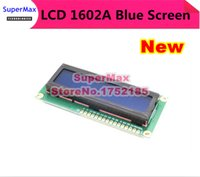Wholesale A NO BRAND V Blue Backlight White Character Lines White Character LCD module LCD1602A order lt no track