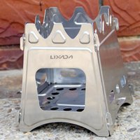 backpacking cook stove - LIXADA Outdoor Stove Compact Folding Wood Stove Outdoor Portable Stove For Camping Cooking Picnic Hiking Y1065
