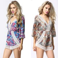 Playsuit Sale Print L Elegant Jumpsuit 2015 New Lace Siamese Culottes