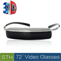 Wholesale 72 Inch D D Virtual Video Glasses x240 Display AV IN Function Multiple Device Support