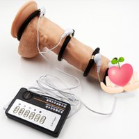 electric sex toys - Men Time Delay Electric Shock Penis therapy Ring Delay cock ring Sex products Penis Extender fashion sex toy adult for men