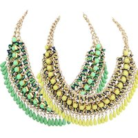 amazing just - 1PC Women Amazing Bohemian Vintage Beaded Bib Statement Chain Necklace Women Promotions Factory Price Gifts Just for You