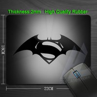 batman mouse pad - Batman vs Superman Anti slip Computer Mouse Pad Rubber Custom Mouse Mat Size mmX180mmX2mm