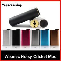 best hybrids - 100 Original Wismec Noisy Cricket Mod SMPL Style Button Hybrid Adaptor Bottom Box Mod Best For Indestructible RDA tank Huge in stock