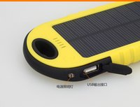 uk laptop charger - 5000mAh Solar Charger and Battery Solar Panel waterproof shockproof portable power bank for Mobile phone Laptop Camera MP4