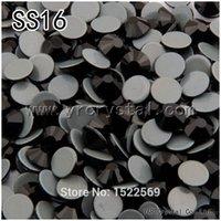 Wholesale 1440pcs Jet Color Glue Base Loose HotFix Rhinestones SS16 Iron on Stones Flatback Crystal Clothing Accessories