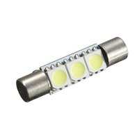 best vanities - Best Promotion mm T6 SMD LED Lamp Bulb For Car Interior Sun Visor Vanity Mirror Fuse Light Pure White DC12V
