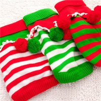 Wholesale Holiday Christmas colorful section pet warm clothing in autumn and winter warm sweater pet sweater dog sweater