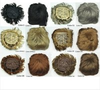 Wholesale Mens toupee and women s toupees Good quality Synthetic hair Toupees hair loss top piece