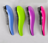 Wholesale 2000pcs Magic Detangling Handle Tangle Shower Hair Brush Comb Salon Styling Tamer Tool Includes retail packaging a834