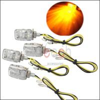 Wholesale 4 x LED V Motorcycle Mini Dirt Bike Turn Signal Blinker Indicator Light