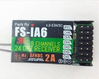 Cheap AFHDS 2A Frysky FS - iA6 6 Channel Receiver Park Fly FS-iA6 6CH For Fixed wing Glider RC Helicopter