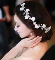 Cheap 2015 Hair Accessories Korea Shining Wedding Bridal Crystal Veil Tiara Crown Headband Crown Wedding accessories beaded