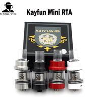 acrylic tubes - Kayfun Mini RTA Rebuidable Tank Atomizer Glass Tube Acrylic Drip Tips Thread mm Airflow Control Holes Vs Kayfun V3 Indestructible RDA