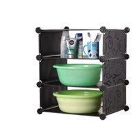 plastic storage shelf drawers - Washstand Locker Wash Basin Combination Shelf Kitchen Storage Shelf Wash Basin Cabinet Plastic Storage Drawers for Sale