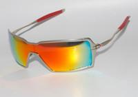 al por mayor gafas de sol polarizadas de alta gama-Gafas de sol de lente polarizada oscuro marco de metal marco de gafas de sol al aire libre gris sunmirror golf de gama alta 015