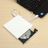Wholesale New Arrival Pure White Universal Thin USB External Combo Optical Drive CD DVD Player CD Burner for PC Laptop Desktop