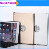 apple keyboard carrying case - Ipaid air Ultra Thin Alumium Folio Shell ABS Wireless Bluetooth Backlit Keyboard Carrying Case Colorful Backlight for Apple iPad Air