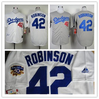 fashion baseball jerseys - 2016 New New Fashion Los Angeles Dodgers Jackie Robinson Jersey Throwback M N jerseys White Cream grey black Baseball Jerseys