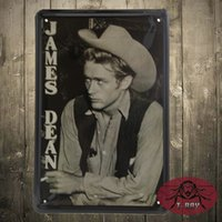 antique housing - JAMES DEAN Movie poster Metal signs Art wall decor House Cafe Bar vintage Metal Paintings