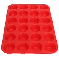 Wholesale Mini Muffin Cup Cavity Silicone Soap Cookies Cupcake Bakeware Pan Tray Mould Home DIY Cake Tool Mold