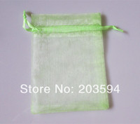 Wholesale 500pcs Light Color Jewelry Packing Drawable Organza Bags x9cm Wedding Gift Bags amp Pouches