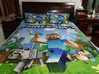 Wholesale Cartoon MineCraft Nursery Bedding Sets Bedding Duvet Cover Set Cotton Official Design Kids Bedding Duvet Cover Pillow Cover Hot Sales