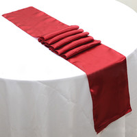 Wholesale x cm Gold Wedding Satin Table Runners For Banquet Table Decoration