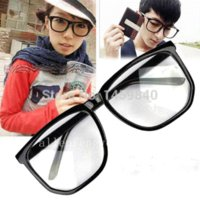 accessory geeks - 2PCS Fashion Cool Retro Sunglass Unisex Clear Lens Wayfarer Nerd Geek Glasses Eyewear For Men Women M58353