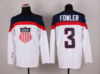 Cheap 2014 Sochi Olympic Team USA Hockey Jersey #3 Cam Fowler White Ice Hockey Jerseys