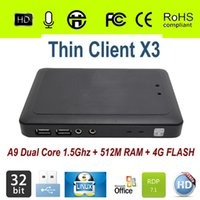Wholesale Linux Thin Client Cloud Computer X3 with A9 Dual Core Ghz G RAM G Flash Linux Embedded RDP Protocol