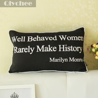 accessory quotes - Fashion Accessories Black White Pillow Case Marilyn Monroe Quote Throw Pillow Case Lumbar Cushion Cover