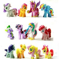 Wholesale set of My little pony Loose Action Figures toy CM Pony Littlest Figure Xmas Gift For Kids