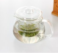 Wholesale 1pc ml Heat Resisting Clear Glass Tea pot with Glass infuser
