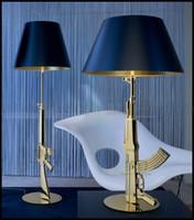 Wholesale Starck Floor Lamp - Modern FLOS AK47 Chrome Gold Gun Table Lamps Desk Light Starck Design Philippe Read Night Light Super Light FLOOR LAMP LLWA022