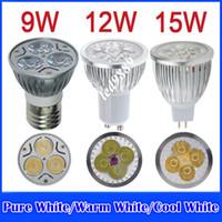 best led downlight - Hot Selling Best Quality Dimmable Downlight AC V DC12 MR16 LED Lamp GU10 E27 W W W Light Bulbs Spotlight